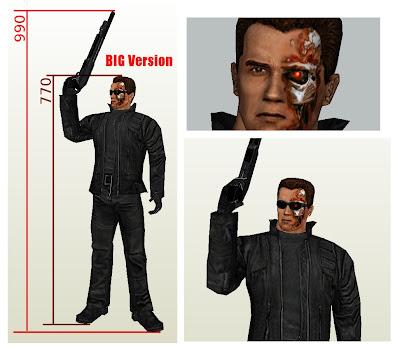 Terminator Papercraft T-101