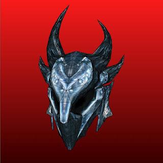 Skyrim Papercraft Daedric Armor Helmet