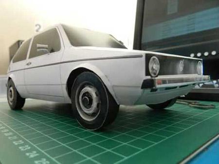 volkswagen+golf+mk1+papercraft
