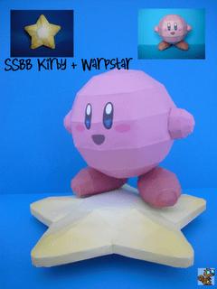 SSBB Kirby & Warpstar Papercraft