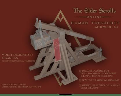 Elder Scrolls HumanTrebuchet Papercraft