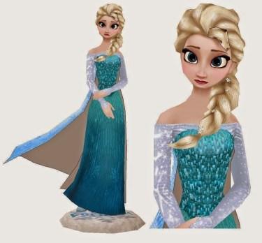 Frozen - Adult Elsa Papercraft