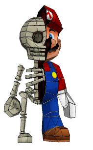 Halloween 2014 - Mario Skeleton Papercraft