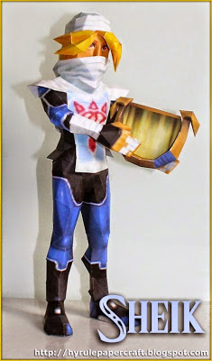 Ocarina of Time 3D Sheik Papercraft