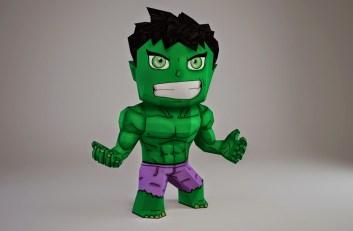 Chibi Hulk Papercraft