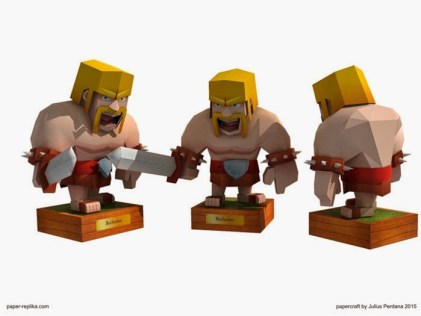 Clash of Clans Papercraft - Barbarian