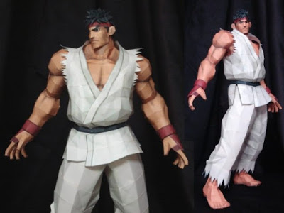 Streetfighter-Ryu-Papercraft