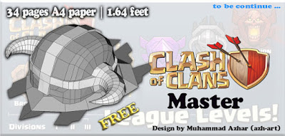 Clash of Clans Master League Emblem Papercraft