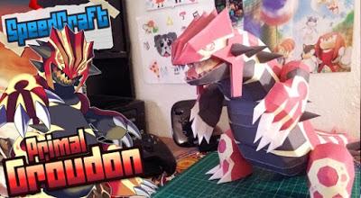 Pokemon Primal Groudon Papercraft
