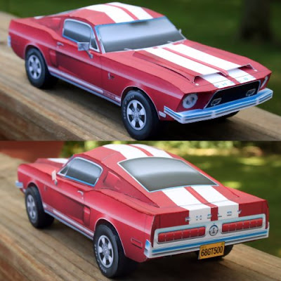 1968-Shelby-Mustang-Paper-Model