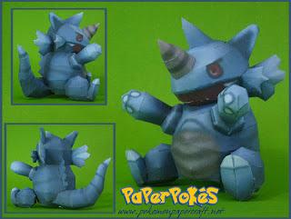 pokemon-rhydon-doll-papercraft