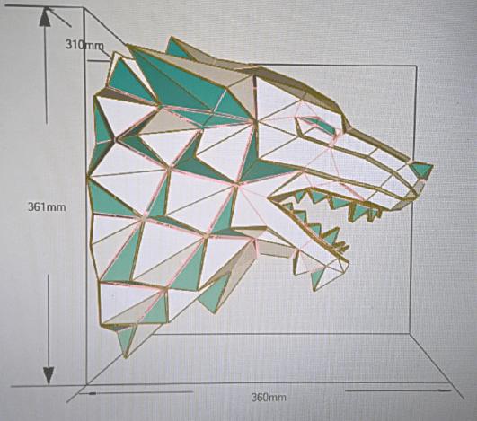 Lobo Casa Stark papercraft