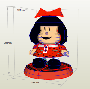 Mafalda papercraft