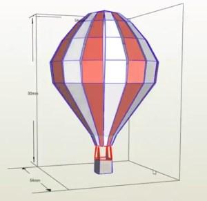 Globo Aerostático papercraft