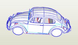 Escarabajo VW papercraft