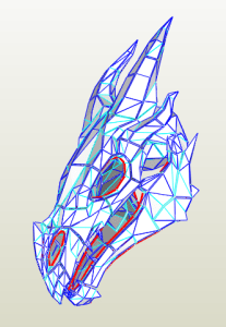 Cráneo Dragón Papercraft