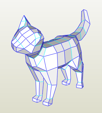 Gato Papercraft Lowpoly