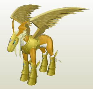 Pegasusmon papercraft
