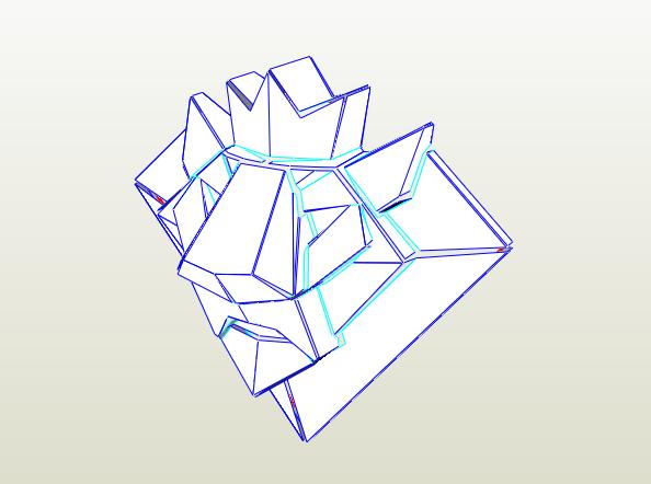 Emblema León papercraft