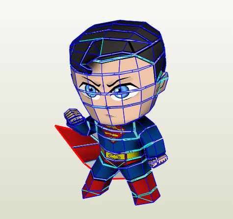 Superman Chibi papercraft