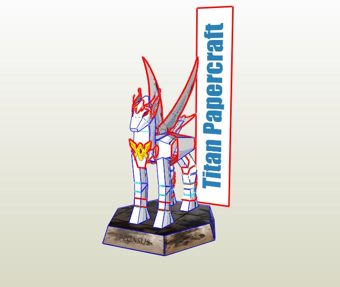 Armadura pegaso papercraft