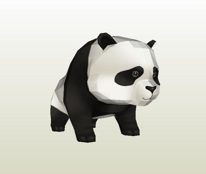 Oso panda papercraft