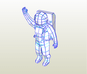 Astronautoa papercraft