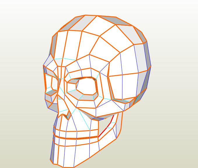 Cráneo humano papercraft