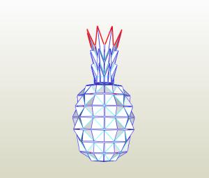Piña papercraft