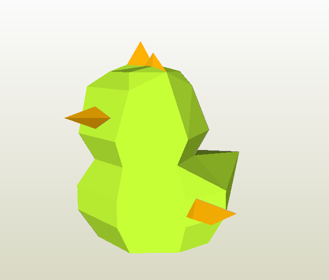 Pollito LowPoly