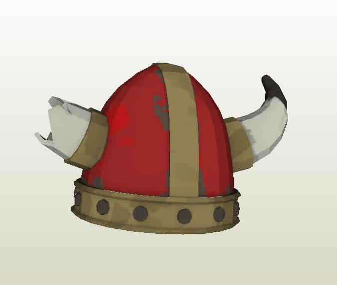 Casco Vikingo papercraft