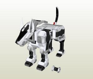 Perro robot papercraft
