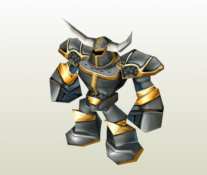 Battle Golem papercraft