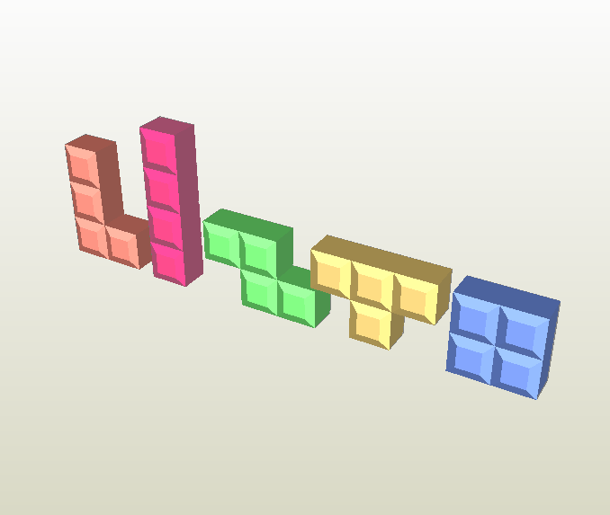 Tetris papercraft