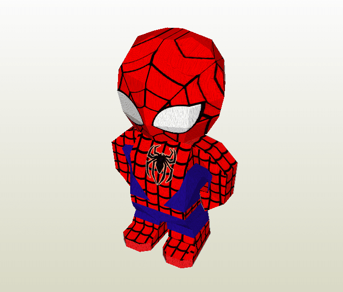 Spider-Man chibi papercraft