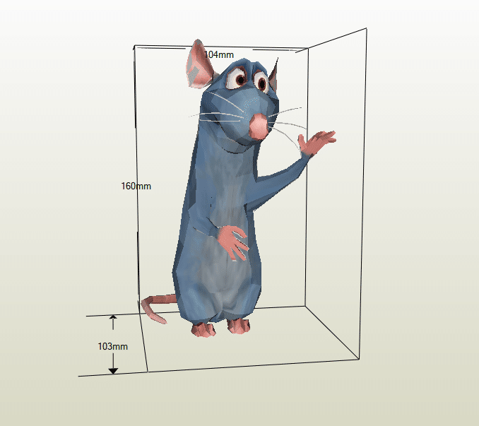 Ratatouille papercraft