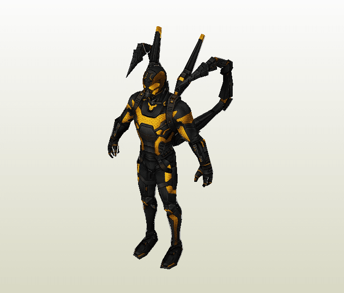 Yellowjacket papercraft