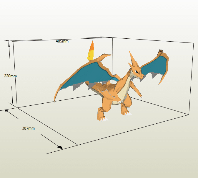 Mega Charizard papercraft