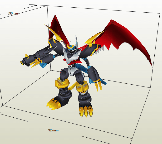Imperialdramon papercraft