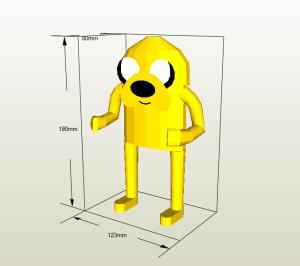 Jake el Perro papercraft