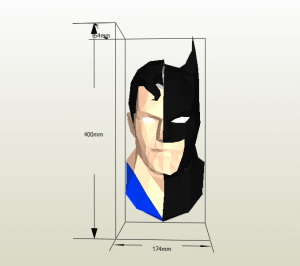 Superman y Batman papercraft