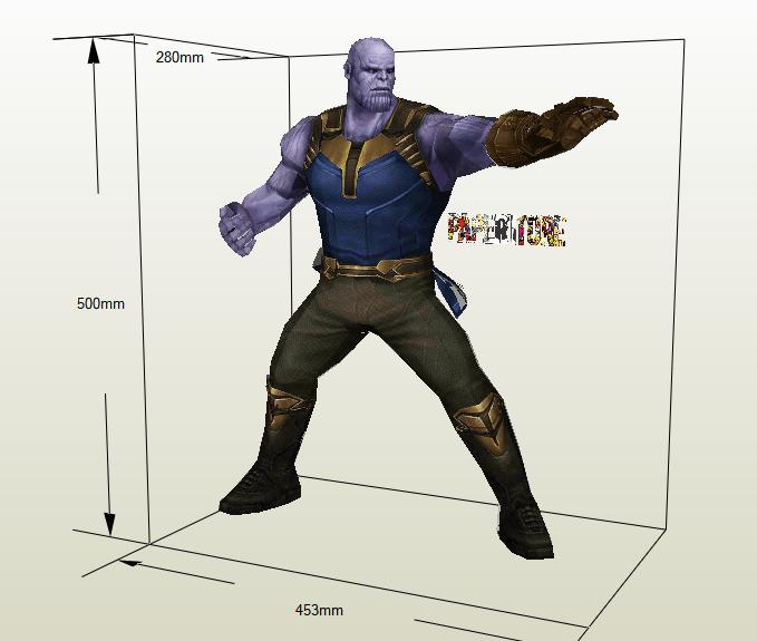 Thanos papercraft