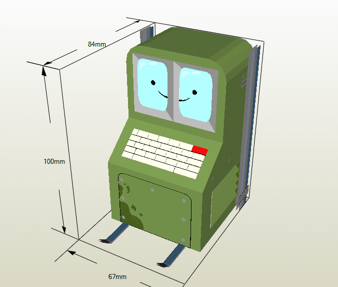 Comuterbot papercraft