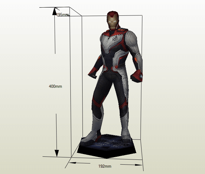 Ironman traje cuántico papercraft