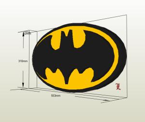 Logo batman papercraft