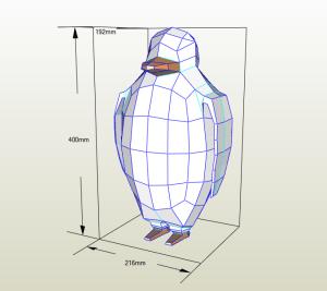 Pingüino papercraft