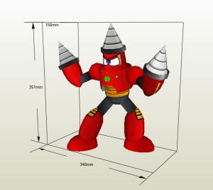 Drillman papercraft