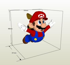 Mario Tanooki papercraft