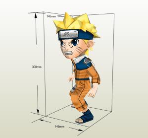 Naruto chibi papercraft