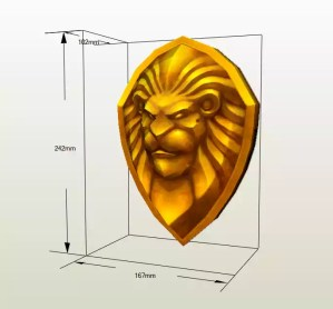 Escudo Alianza Warcraft papercraft